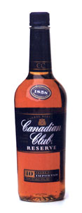 Canadian Club Reserve 10 yr old, Blended Canadian Whisky (Canada) 750ml