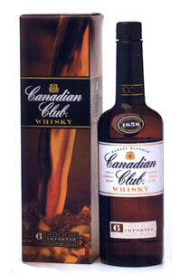 Canadian Club 6 yr old, Blended Canadian Whisky (Canada) 750ml