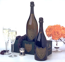 Dom Perignon  with 2 Crystal Flutes 750ml