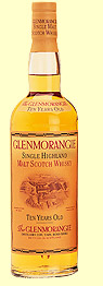 Glenmorangie 10 yr old, Single Malt Scotch Whisky (Scotland) 750ml
