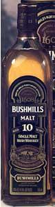 Bushmills 10 yr old, Irish  Whiskey (Ireland) 750ml