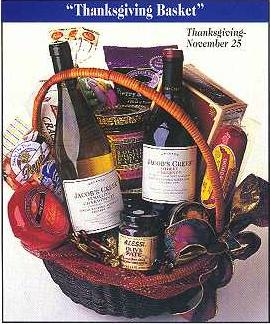 Thanksgiving Wine Basket