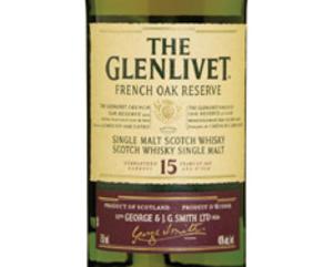Glenlivet French Oak 15 yr old, Single Malt Scotch Whisky (Scotland) 750ml