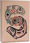 Traditional 2 Salmon Design - Natural Smoked Salmon -  4 oz.