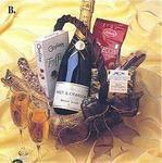 Happy Holidays - Champagne Gift Basket
