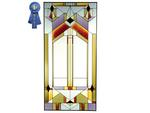 Deco-tectural, Grand Vertical Stained Glass Panel
