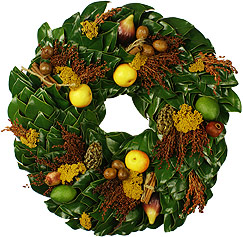 All Green Colonial Heritage Wreath - 36 Inch