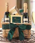 Happy St. Patricks Day Champagne Gift Basket