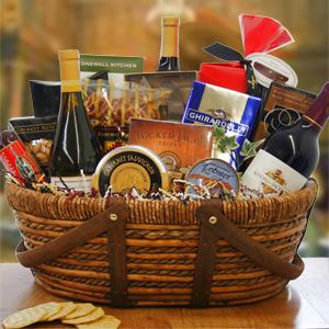 Christmas Gourmet Wine Gift Basket
