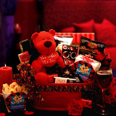 You Light My Fire Little Devil Valentine Gift Basket