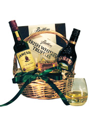 JAMESON & BAILEYS IRISH GIFT BASKET WITH CHOCOLATE