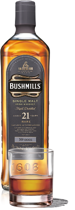 Bushmills 21 Year Old Single Malt Whiskey. 750 ml