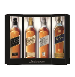Johnnie Walker Sampler (200 ML) Black, Gold Reserve, Platinum, and Blue