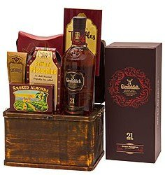 Glenfiddich 21 Scotch Whiskey Gift Basket