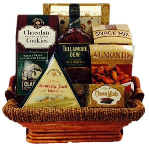 Tullamore Dew Irish Whiskey Gift Basket