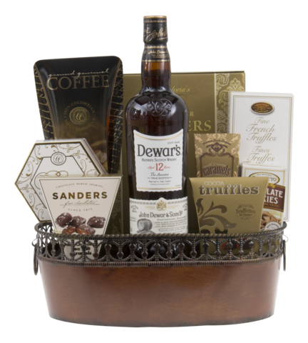 Dewars Scotch Whiskey Gift Basket