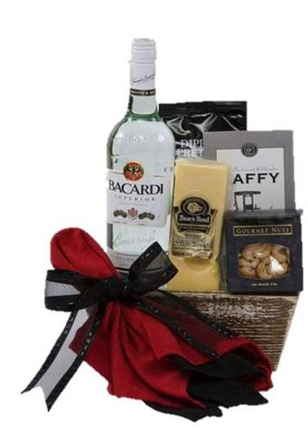 Bacardi Rum Fun Gift Basket
