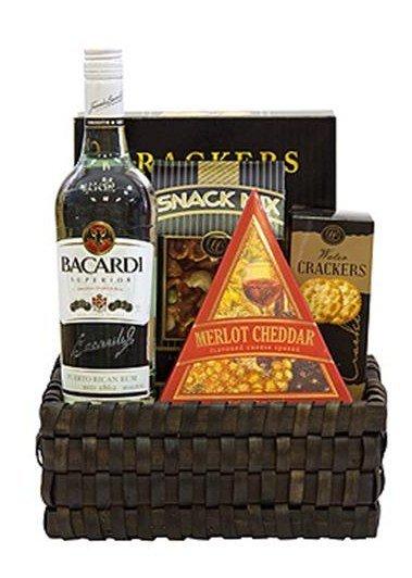 Bacardi Superior Rum Gift Basket