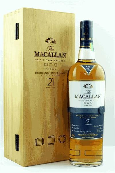 The Macallan 21 Yr Fine Oak, Tripple Cask Matured, Highland Single Malt Scotch Whisky