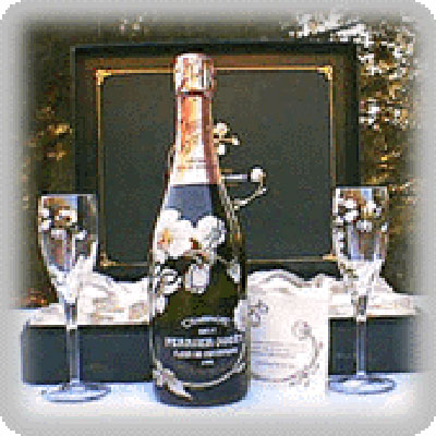 Perrier-Jouet Champagne Flower Bottle Gift Set with Two Glasses 750ml