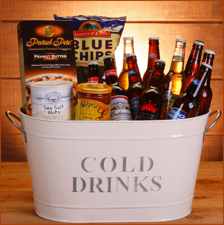 Bucket O Bud Gift Basket