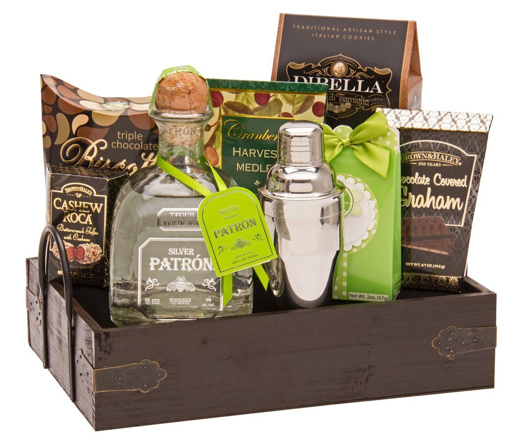 A Patron Party Tequila Gift Basket