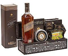 J Walker Platinum Presentation Scotch Whiskey Gift Basket